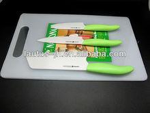 Ceramic kitchen knives manufacturer 3 piece set super kitchen knives set with block
