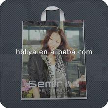 Grocery design plastic retail big size handle bag