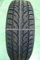 winter studded car tires mud snow