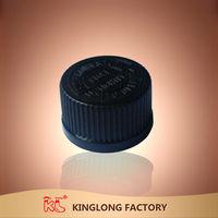 New Beautiful High quality plastic flip top water black bottle screw lid