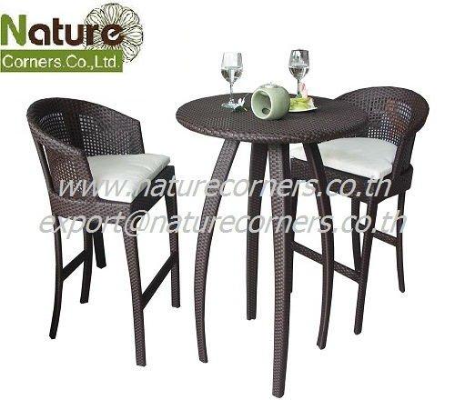 tf 0812 z hler stehtisch und barhocker outdoor rattan. Black Bedroom Furniture Sets. Home Design Ideas