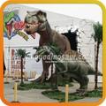 T-rex dinasour robô para o tema parque de exposições