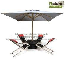 Rattan Beach Sun lounger with umbrella