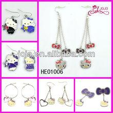 fashion hello kitty earring alloy hollo kitty varies design earring