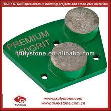 POLAR STANDARD 2-ROUND Metal Bond Diamond Grinding Plate for Floor Machine