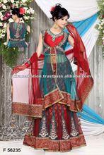 Red designer heavy salwar wedding suits kameez