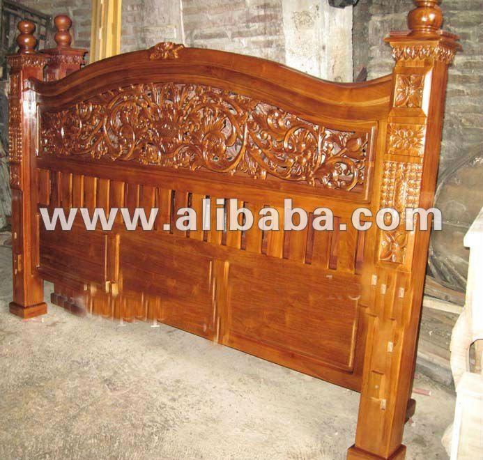 Cama de madera de teca