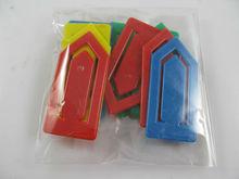 colorful plastic paper clip bookmark