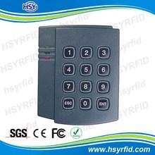 Access control 12V DC Proximity keypad 13.56mhz IC card reader