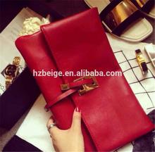 PU leather clutch bag , magazine clutch bag