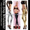 lady sexy liquid wet look metallic club legging, shinny gloss 4 way stretch Vinyl PVC Leggings,pants