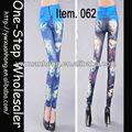 2013 venta al por mayor del tatuaje Jeans Look Leggings pantalones medias, Mujeres Sexy Leggings