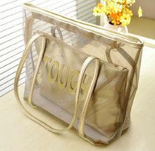 China 2013 fashion wholesale clear plastic beach bag