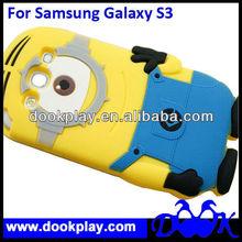 For Samsung Galaxy S3 Cute despicable me silicone case cover