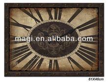 Retro Brown Wooden Clock For Home Decor