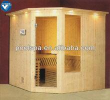 Outdoor sauna log house