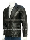 Mission Impossible Tom Cruise Black Leather Blazer