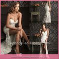 j8030 querido laço curto e longo nas costas do vestido de casamento