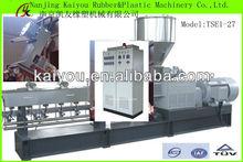 Nanjing Kaiyou Masterbatch Used Parallel Co rotating Twin Screw Plastic Granulator