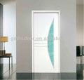 pvc interior moderno de vidrio de la puerta de madera