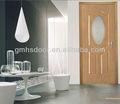 Pvc interior moderno de vidrio de madera de tamaño de la puerta 800*2000mm