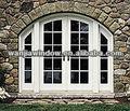 foshan wanjia de último diseño de estilo europeo arqueada puertas francesas