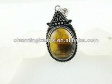 CH-ESP0066 Tiger eye jewelry,antique cooper pendant with natual stone,fasion pendant