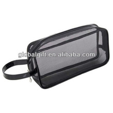 Promotion mesh cosmetic bags black