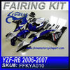 Chinese Motorcycles Fairing For YAMAHA R6 2006-2007 GLOSS BLACK&BLUE