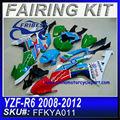 Para kit carenagem yamaha r6 2008-2012 2 mutul