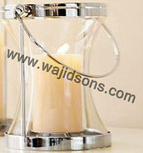In acciaio inox lanterna candela, handmade candela lanterna,