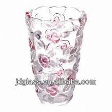Rose Design Colorful glass vase