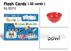 Flash Cards(32 cards)-Tools & Kitchen Utensils