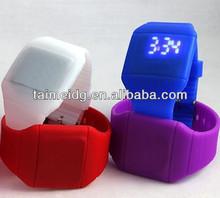 OEM logo silicone led man watch, digital wrist watch, digital led watch women