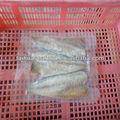 Frozen limpiar el pescado bacalao cabeza