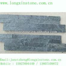 black quartzite interior and exterior wall stone