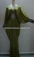 Sexy Green Grey Kaftan For Women Designs