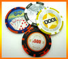 High quality 2013 custom new 11.5g abs round plastic stiker coins for promotion