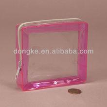 clear & colored frame zipper soft vinyl case