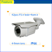 1/3 cmos cctv ir bullet weatherproof security camera,varifocal lens 4-9mm