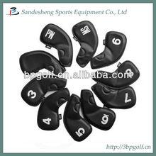 Neoprene leather golf iron club head cover