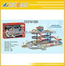 2013 hot sale carton car parking lot ,car play set ,railway car OC0161260