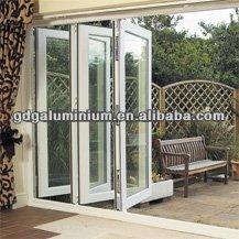 Exterior bi fold/folding door with various glass,hardware