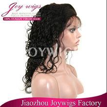 "Hot!!! New arrival virgin 14"" 1B# malaysian curly human european hair jewish wig kosher wigs"