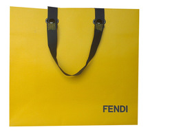 luxury paper shopping bags with button closure handle
