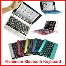 wireless bluetooth keyboard case mini pc keyboard aluminum keyboard with magnet holder for Apple iPad Mini