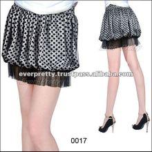 00017BK Lady Polka Dots Printed Blacks 2012 Fashion Skirt