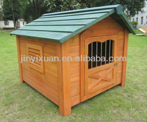 A-frame Wooden Dog House / Outdoor Wooden Dog Kennel with Asphalt Roof / Puppy Cage / Pet House