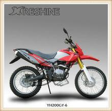 Classical dirt bike RESHINE YH200GY-6 model digital speedometer gas motorcycle for kids