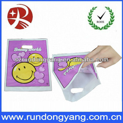 smile face printing fancy plastic shopping bags